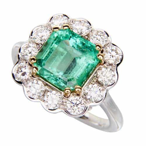 emerald diamond ring repair