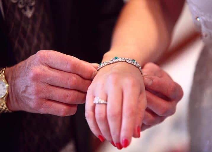 diamond ring platinum bracelet combination