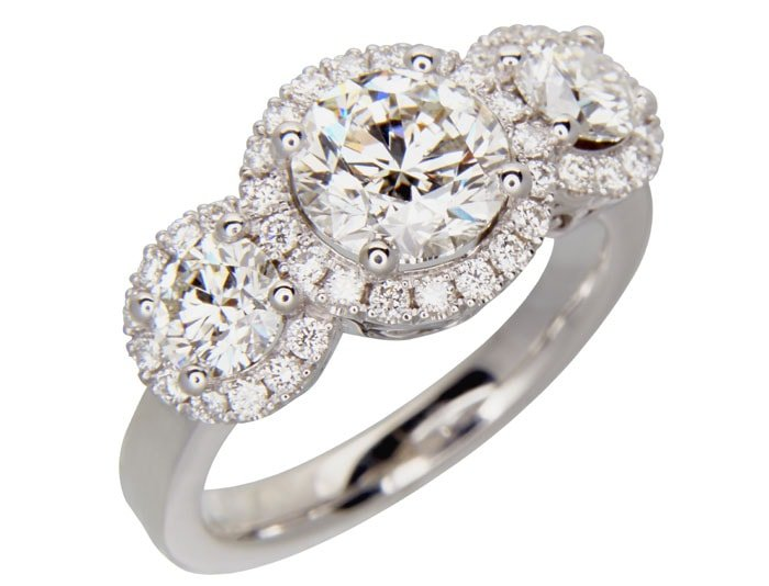 diamond engagement ring design by arax jewellery