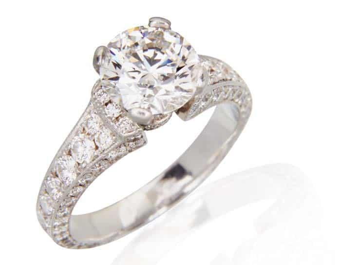 Princess Cut Diamond Engagement Ring Custom Made
