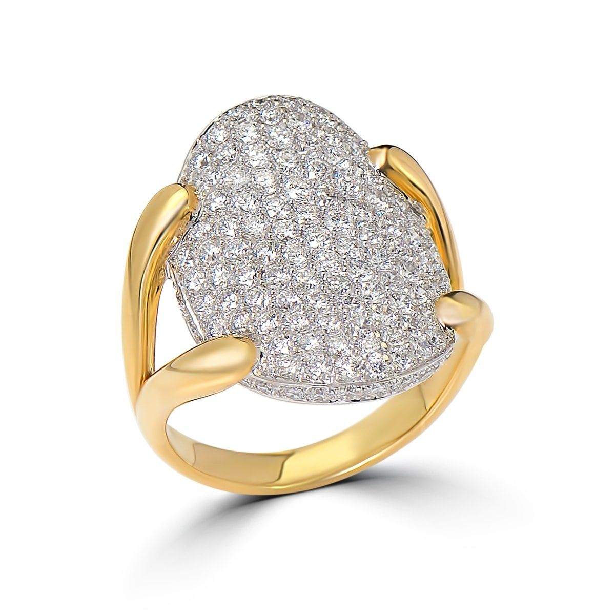 Gold and Diamong Engagement Ring