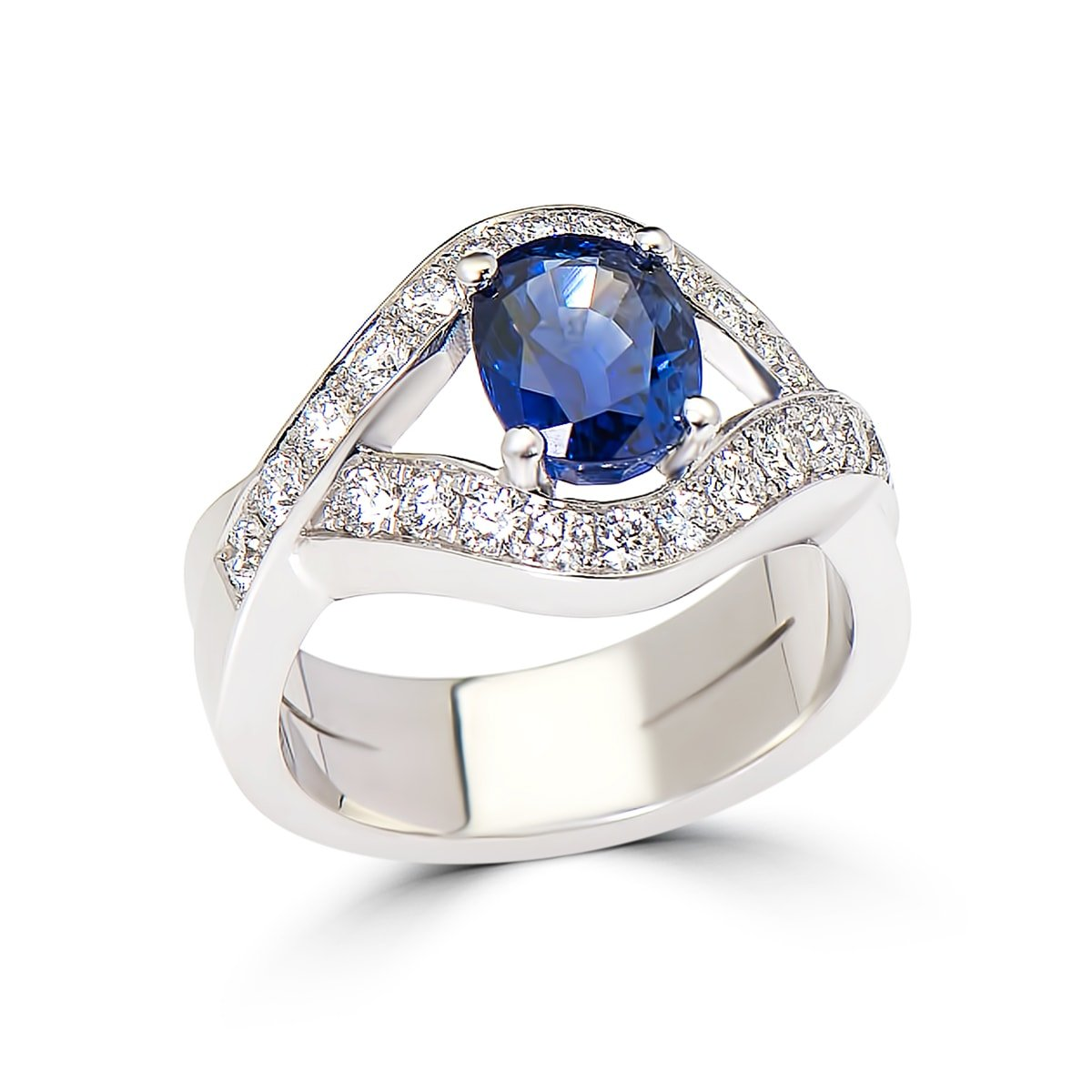 sapphire diamond engagement ring design specialists