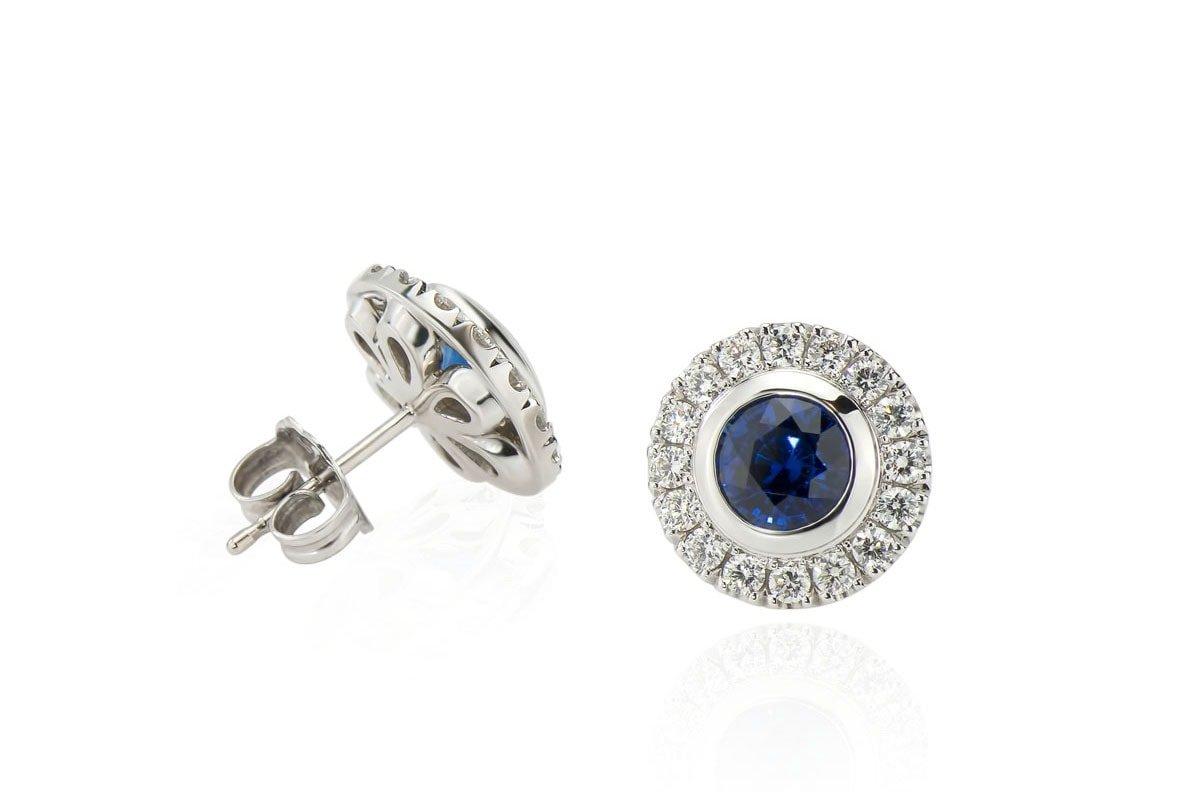 diamond stud gold earrings by arax