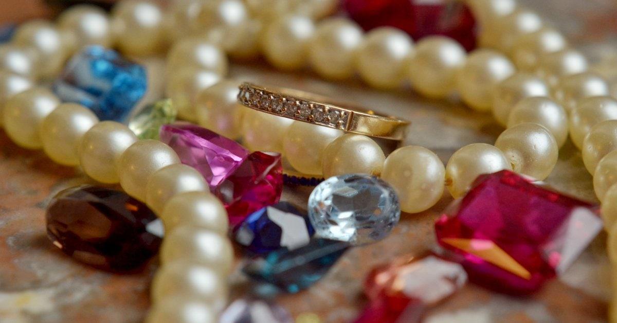 A collection of precious and semi-precious stones. Birthstones