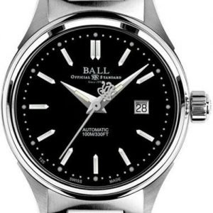Product photo of Ball Fireman Ladies Black Dial