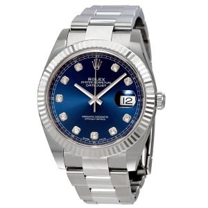 Used Rolex Datejust 41 Diamond Blue Dial