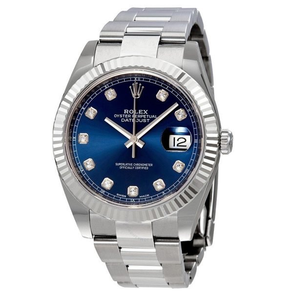 Product photo of Used Rolex Datejust 41 Diamond Blue Dial