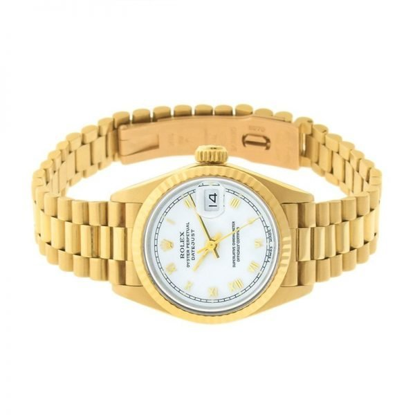 Product photo of Rolex Datejust Lady President 69178 3 laying down