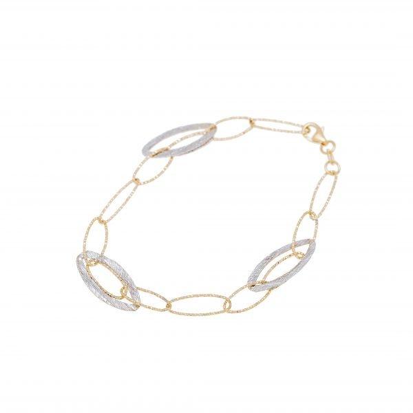 18Kt Two-Tone Link Style Bracelet
