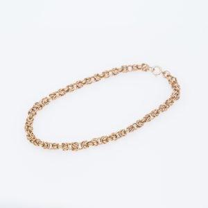 19Kt Link Braided Style Bracelet